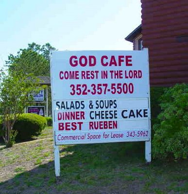 God Cafe, Eustis, Florida. Photo copyright 2009 Chas S. Clifton